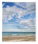 Woman On Manly Beach In Sydney Australia Fleece Blanket