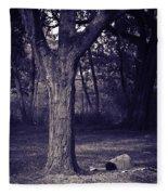 Woman Under A Tree Fleece Blanket