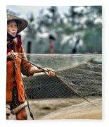 Woman Vietnam Color Fleece Blanket