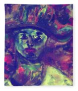 Woman With A Hat Fleece Blanket