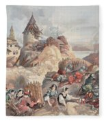 Women At The Siege Of Marseille Fleece Blanket