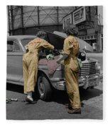 Women Auto Mechanics Fleece Blanket