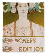 Womens Edition Buffalo Courier Fleece Blanket