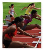 Womens Hurdles 3 Fleece Blanket