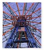Wonder Wheel 2013 - Coney Island - Brooklyn - New York Fleece Blanket