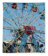 Wonder Wheel Of Coney Island Fleece Blanket