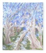 Wondering Through Trees Fleece Blanket