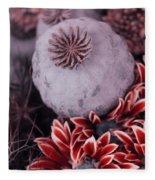 Wonderworld Of Flowers Fleece Blanket
