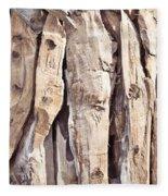 Wood Abstract Fleece Blanket