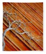 Wood And Stone Fleece Blanket