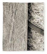 Wood Concrete And Steel Fleece Blanket