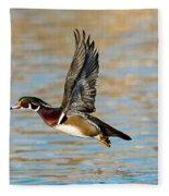 Wood Duck Drake Fleece Blanket
