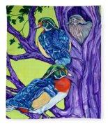 Wood Duck Tree Fleece Blanket