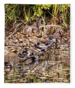 Wood Ducks Fleece Blanket
