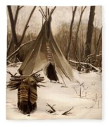Wood Gatherer Fleece Blanket