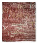 Wood Graffiti Fleece Blanket