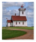 Wood Islands Lighthouse - Pei Fleece Blanket