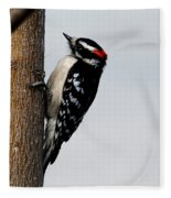 Wood Pecker Fleece Blanket
