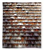 Wood Roof Shingles Fleece Blanket