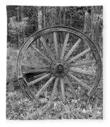 Wood Spoke Wheel Fleece Blanket