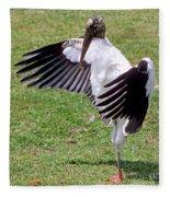 Wood Stork Fleece Blanket