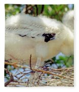 Wood Stork Mycteria Americana Fleece Blanket