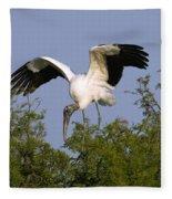 Wood Storks Fleece Blanket