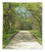Walking In The Park Fleece Blanket
