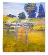 Wooden Bridge At Graften Fleece Blanket