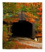Wooden Bridge Fleece Blanket