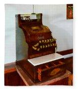 Wooden Cash Register Fleece Blanket