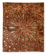 Wooden Coffered Ceiling In The Alhambra Fleece Blanket