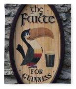 Wooden Guinness Sign Fleece Blanket