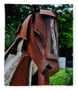 Wooden Horse12 Fleece Blanket