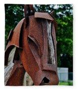 Wooden Horse13 Fleece Blanket