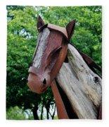 Wooden Horse20 Fleece Blanket