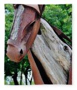 Wooden Horse21 Fleece Blanket