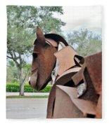 Wooden Horse26 Fleece Blanket