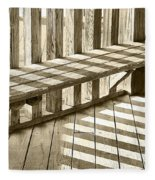 Wooden Lines - Semi Abstract Fleece Blanket