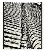 Wooden Sculpture In Palm House Kew Gardens Fleece Blanket