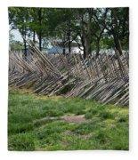 Wooden Spiked Fence Fleece Blanket