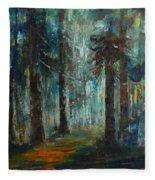 Woodland At Wilsonia 02 Fleece Blanket