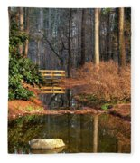 Woodland Bridge 2014 Fleece Blanket