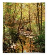 Woodland Brook  Fleece Blanket