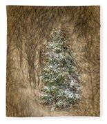 Woodland Christmas Fleece Blanket