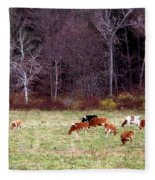 Woodland Dairy Fleece Blanket