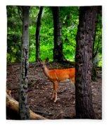 Woodland Deer Fleece Blanket