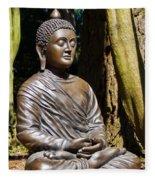 Woodland Meditation Fleece Blanket