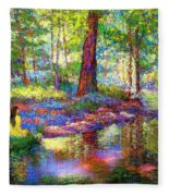Woodland Rapture Fleece Blanket