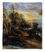 Woodland Scenery Fleece Blanket